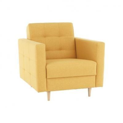 Kárpitos fotel, mustársárga - PYLA